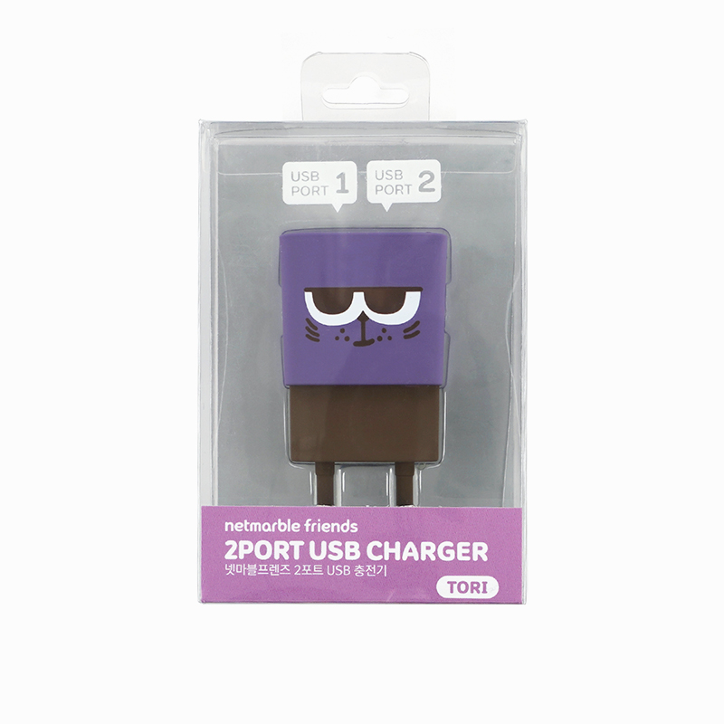 Netmarble Friends Tori 2Port USB Charger