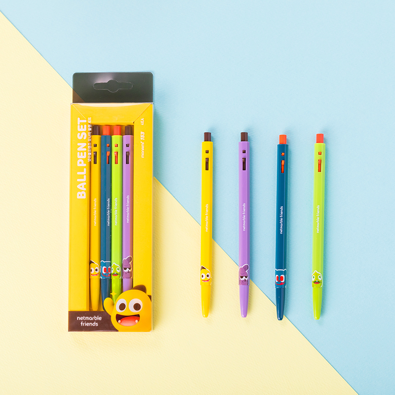 Netmarble Friends X Monami 153 Ballpen Collaboration set