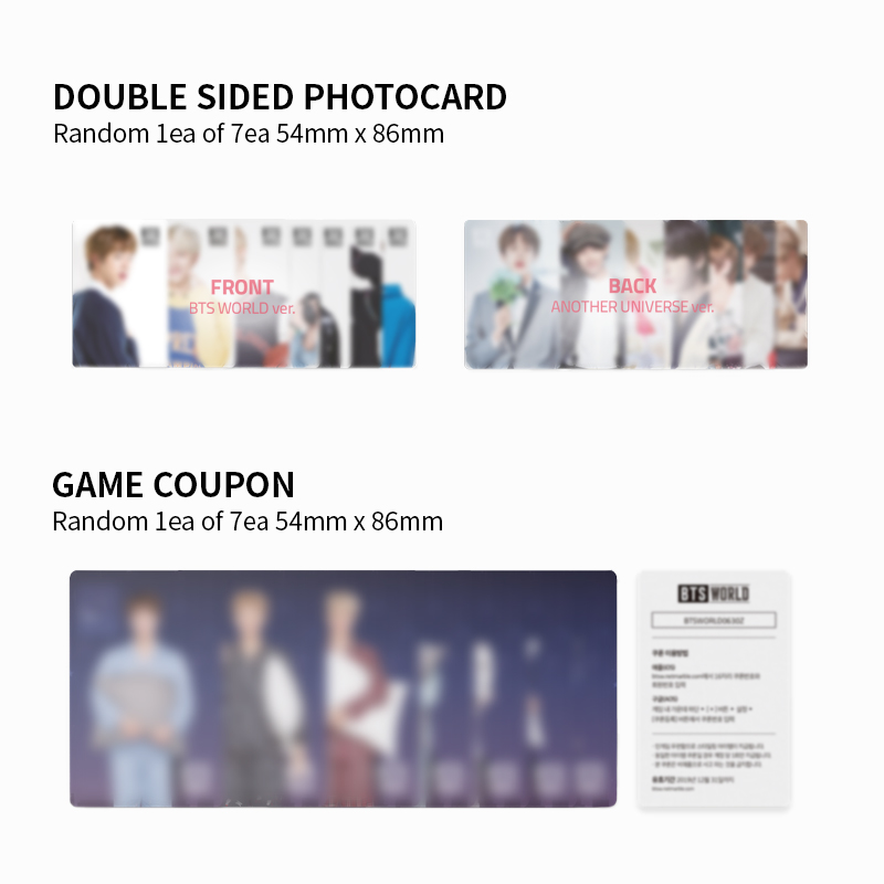 BTS WORLD OST Album Bundle! Pre-order the limited-edition