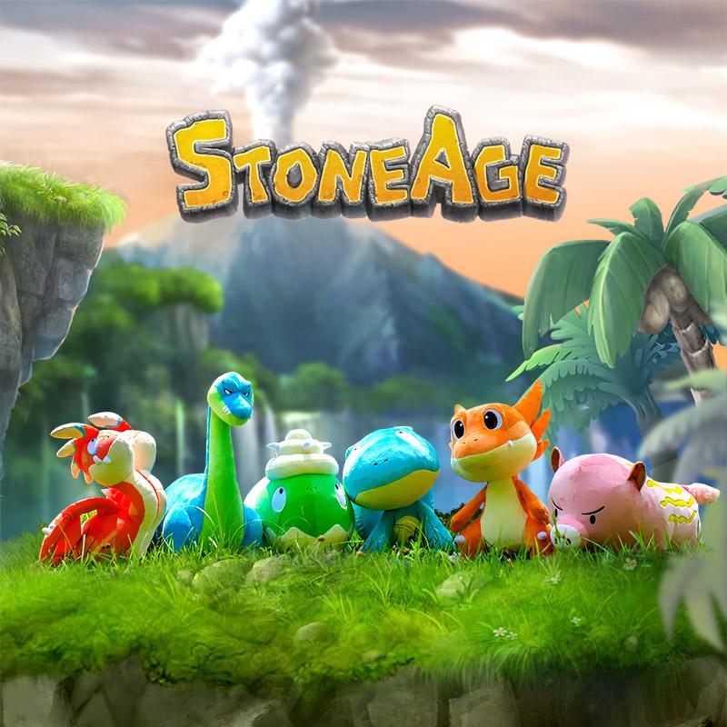 Stone Age Beachtoise Plush Toy (L)