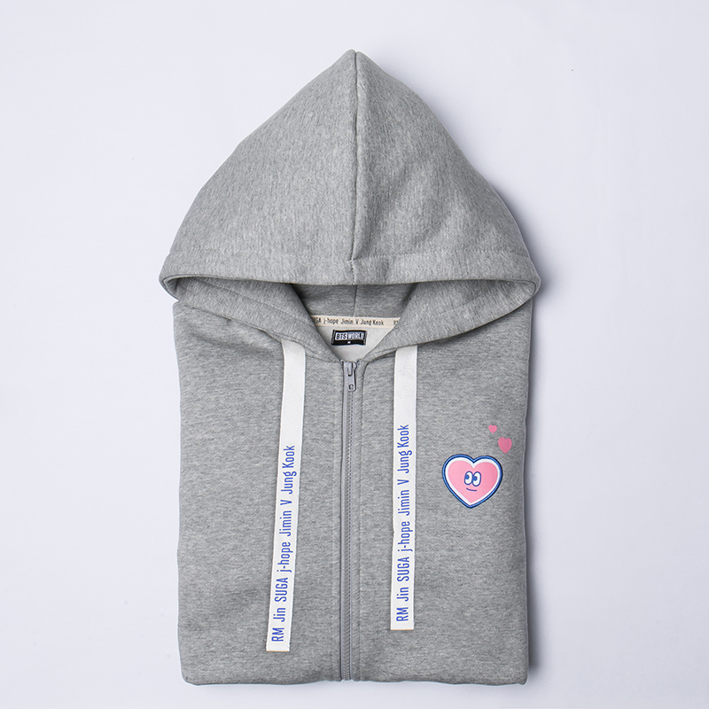 BTS WORLD Zip Up Hoodie