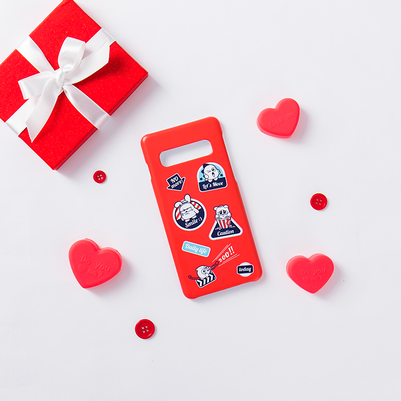 Netmarble Friends Deco Phone Case Red