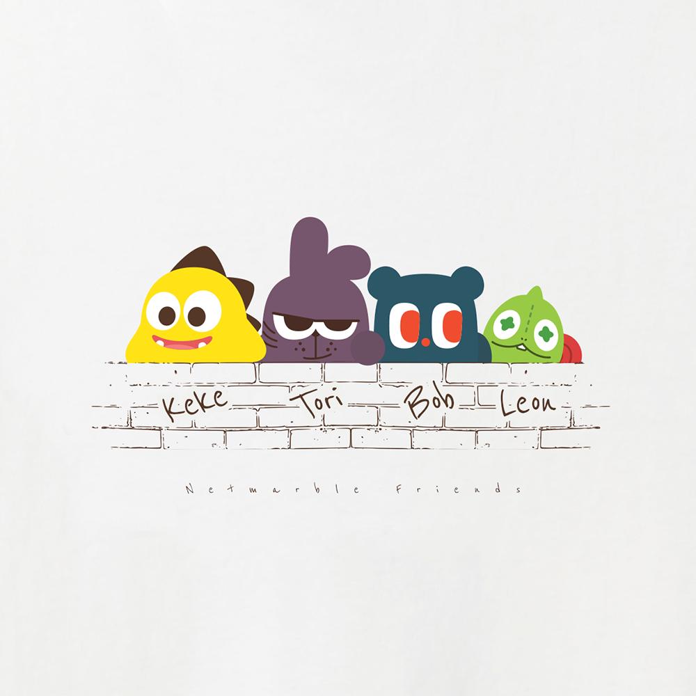 Netmarble Friends Wall Short sleeve T-shirts