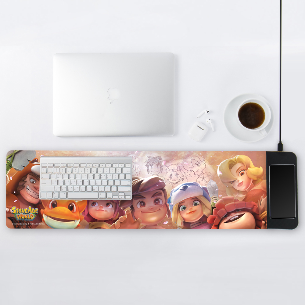 StoneAge Wireless Charging Extended Mouse Pad