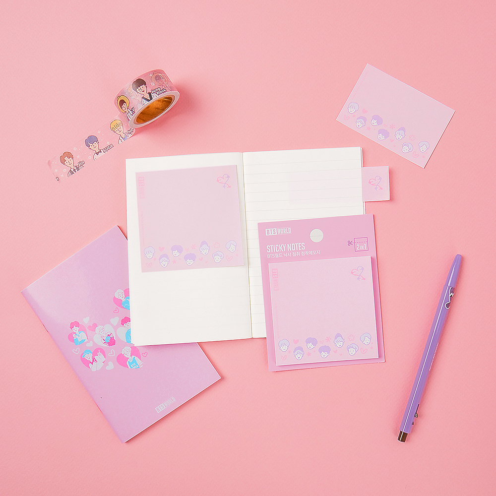 BTS World Sticky Notes with Perforated Line