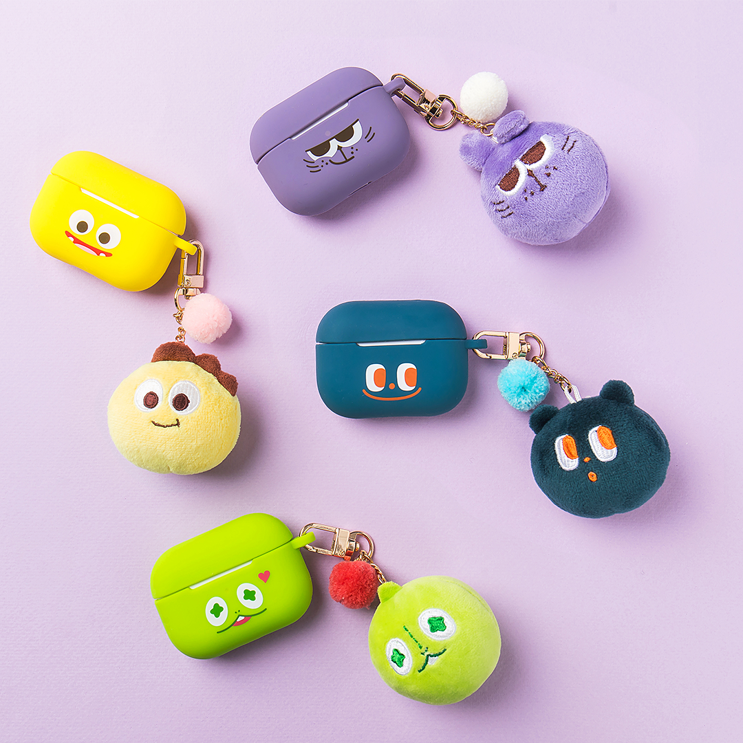 Netmarble Friends Plush Keyring & AirPods Pro Case