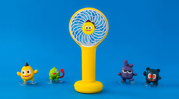 Netmarble Friends KeKe Face Portable Fan