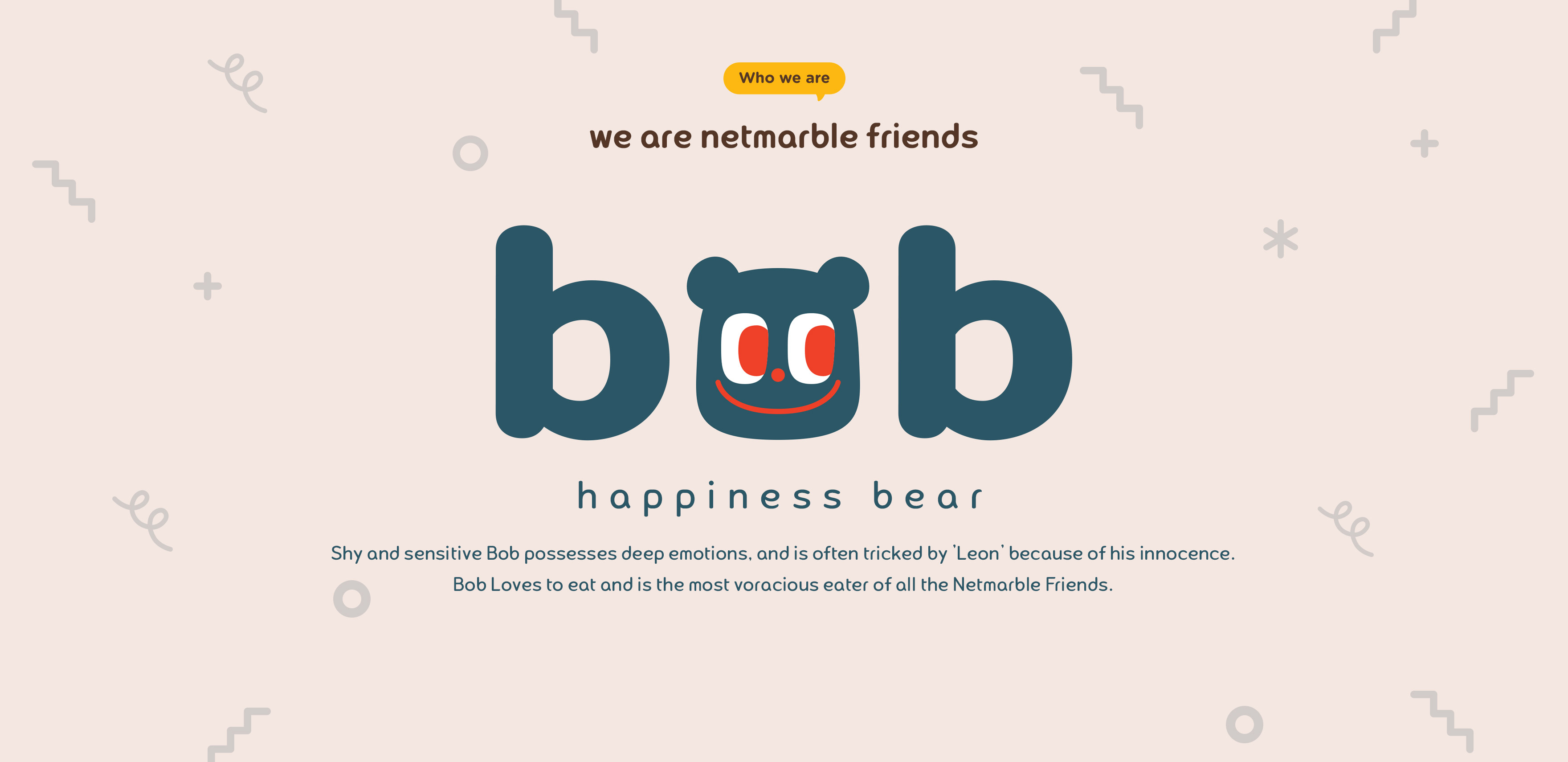 BOB. HAPPINESS BEAR.